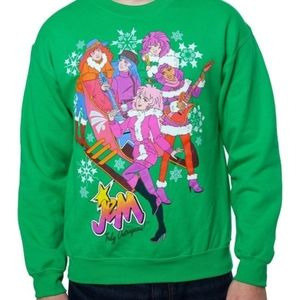 Jem & the Holograms Sleigh Holiday sweater